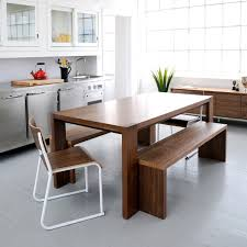 Contemporary Beach House Classic Contemporary Dining Tables Plank - Kitchen table and bench