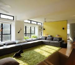 white wall paint in pretty living room color combined with yellow