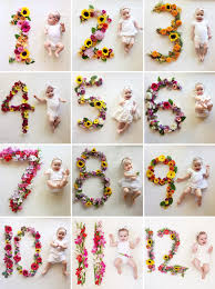 flower of the month newborn photo trend floral wreaths monthly baby baby photos