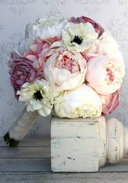 Silk Wedding Bouquet Beautiful Bountiful Wedding Bouquets With Peonies Peony