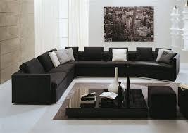 Black Sectional Sleeper Sofa Modern Black Sectional Sofa Large Large Sectional Sofas