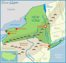 New York mountains images New york map with mountains travel map vacations png