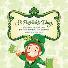 leprechaun cheers on st patricks day party stock vector art