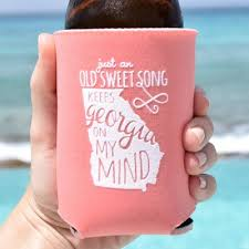 personalized wedding koozies southern koozie wedding favors wedding favors