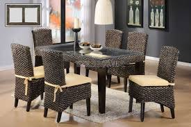 modern home furniture indoor rattan dining table and chairs for