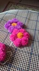 Purple Flower Rug Pom Pom Rug Wool The Start U2026 Pinteres U2026