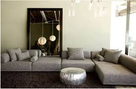 Modern Modular Sofa Living Room With Floor Mirror And Modern Modular Sofa
