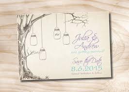 digital save the date vintage tree jar wedding save the date printable digital