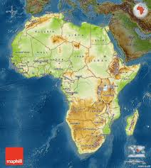 Maps Of Africa Physical Map Of Africa Darken