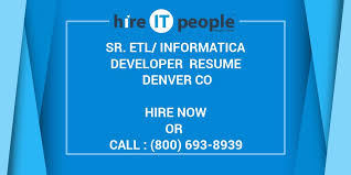 Informatica Sample Resume by Sr Etl Informatica Developer Resume Denver Co Hire It People