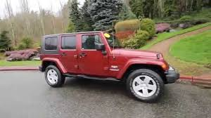 jeep sahara red 2008 jeep wrangler unlimited sahara red rock crystal 8l506352