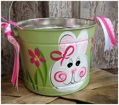 painted easter buckets 24 best painted buckets images on easter baskets