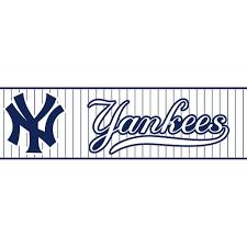 major league baseball boys will be boys ii ny yankees pinstripe boys will be boys ii ny yankees pinstripe wallpaper border