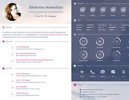 ui designer resume ui ux designer curriculum vitae on behance