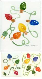 christmas cards in watercolor fancy idea christmas cards with lights and led