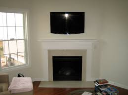 glastonbury ct 40 u2033 tv installed above fireplace with wires