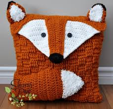 Free Cushion Crochet Patterns Felix The Fox Pillow Cover Sleepover Bag Crochet Pattern By