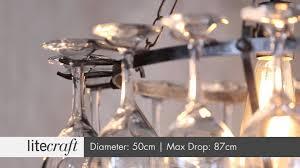 Chandelier Wine Glass Light Tier Wine Glass Chandelier With Glasses Black Wine Glass