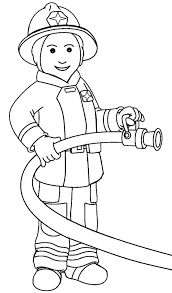 firefighter uniform coloring pages kids cg7