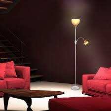 stehlampe deckenfluter standleuchte silber chrom deckenfluter stehlampe orange roter