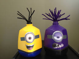 Milk Jug Crafts Halloween by Milk Gallons Turned Into Minions Minion B Day Ideas Pinterest