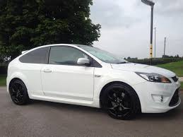 used ford focus st3 used ford focus 2008 petrol 2 5 st 3 3dr st3 hatchback white with