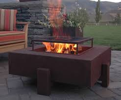 Steel Fire Pit - impressive outdoor fire pits using iron u0026 stone