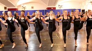 joining the radio city rockettes in rehearsal for the christmas