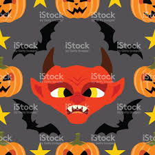 seamless halloween background seamless halloween background with devil stock vector art
