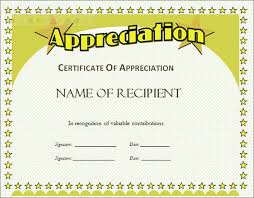 free certificate of appreciation template imts2010 info