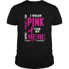 Breast Cancer Awareness Meme - wear pink for my meme