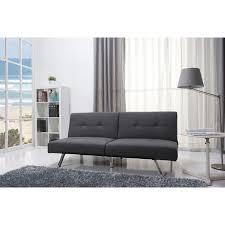 jacksonville gray fabric futon sleeper sofa bed free shipping