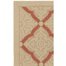 Outdoors Rugs by Shop Five Seasons Sorrento Cream Terracotta Outdoor Rug 2ft X 3ft