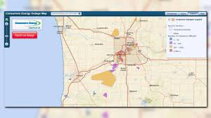 Michigan Power Outage Map by Thousands Of Consumers Energy Customers In Dark After Reported