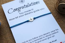 high school graduation gifts for graduation gift compass bracelet college graduation card