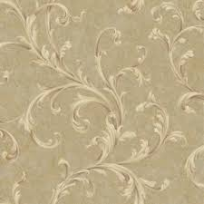 acanthus leaf architectural wallpaper