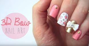 3d nails cute 3d bow nail art tutorial nail designs