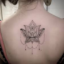 back of an ornamental style lotus flower