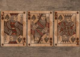bicycle wood rider back playing cards by max by collectable