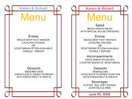 wedding menu sles wedding menu buffet wedding ideas 2018