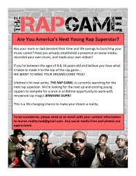 how to write raps on paper new lifetime show the rap game auditions for rappers nationwide the rap game reality show