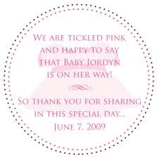 pink design events blog baby shower treat labels for amy u0026 todd