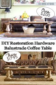 Restoration Hardware Throw Diy Restoration Hardware Inspired Coffee Table