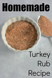 turkey rub you all of the ingredients in your
