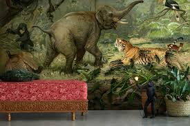 monkey wallpaper for walls tropical wallpaper that transforms your room into a jungle feathr
