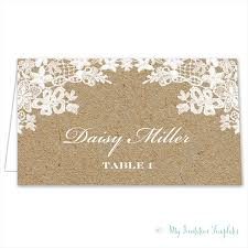 Wedding Place Cards Template Rustic Place Card Template Rustic Lace Tent Card Download