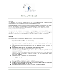 Flight Attendant Job Description For Resume by Room Attendant Job Description For Resume Free Resume Example