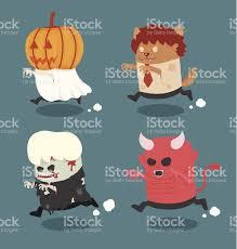 Halloween Monster Costume by Halloween Monster Costume Set 2 Stock Vector Art 512293597 Istock