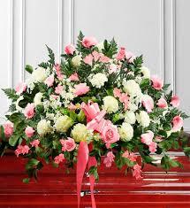 how to make a casket spray pink white sympathy casket spray avas flowers
