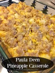 paula deen pineapple casserole